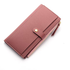 Baellerry Women Multi Slot Elegant Long Wallet Card Holder Purse Phone Bag Fits 5.5 inch Cellphone