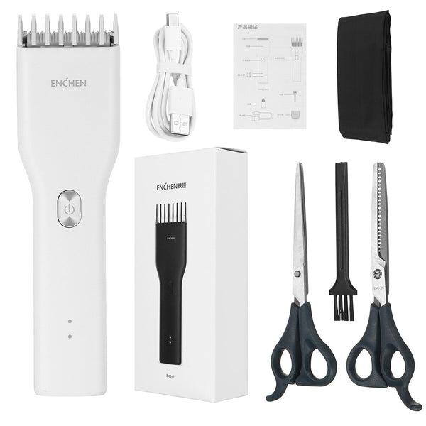 Professional Electric Hair Clipper USB Rechargeable Wireless Trimmers Kit Hair Cutting Machine