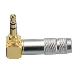 3.5mm Stereo 3 Pole Male Plug 90-Degree Audio Connector Solder Jack