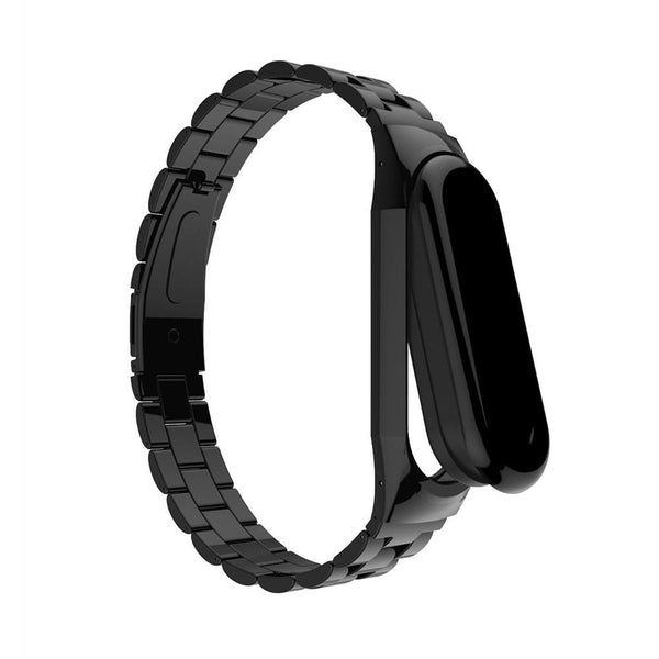 Bakeey Anti-lost Watch Band Stainless Steel Fold Buckle Bracelet for Xiaomi Mi Band3