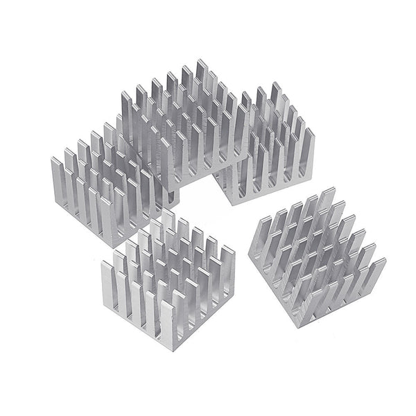 5Pcs 20x20x15mm DIY IC Chip Heat Sink Extruded Cooler Aluminum Heat Sink
