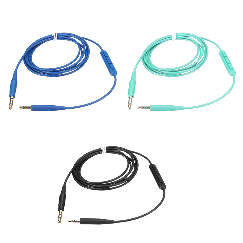 1.4m Headphones Microphone Audio Cable for Bose Soundtrue/Soundlink On Ear QC35 QC25 OE2