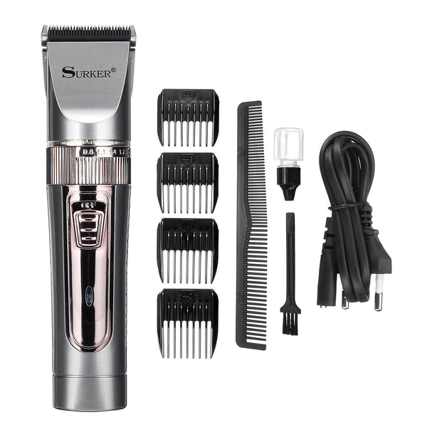 Surker SK-639 Men Electric Hair Trimmer Clipper Rechargeable Beard Shaver Remover Razor Cutter