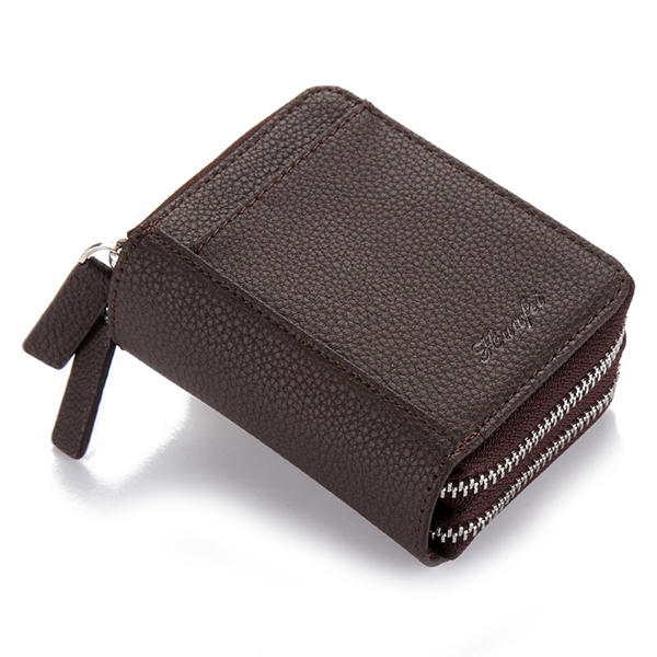 RFID Blocking Zip Around Wallet Card Holder Coin Bag for Men Women