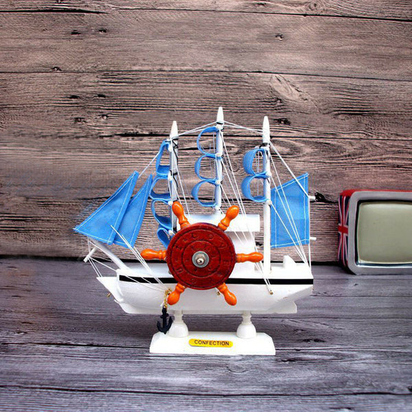 Mediterranean Sailing Music Box Gifts For The New Year Creative Wooden Sailboat Craft Gift Souvenirs