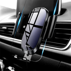 Baseus Tempered Glass Mirror Surface Gravity Auto Lock Car Holder Stand for Xiaomi Mobile Phone