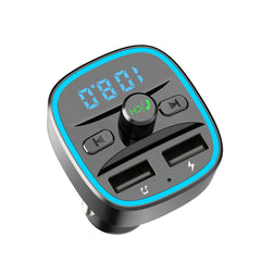 Bakeey 2.4A QC3.0 Dual USB Fast Charging USB Car Charger bluetooth 5.0 Receiver FM Transmitter U Disk TF Card Lossless Music Player For iPhone X XS Xiaomi Mi8 Mi9 S10 S10+