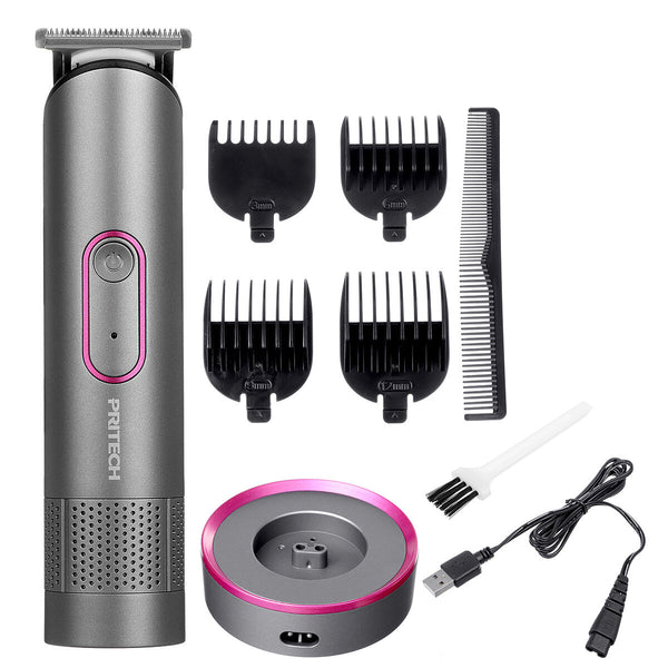 600mA Electric Shaver Hair Clipper Portable Waterproof Haircut Tools Set W/ 4 Limit Combs