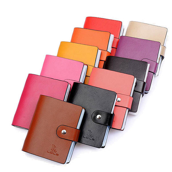 Women Unisex Genuine Leather Fashion 60 Card Slots Large Capacity Card Holder
