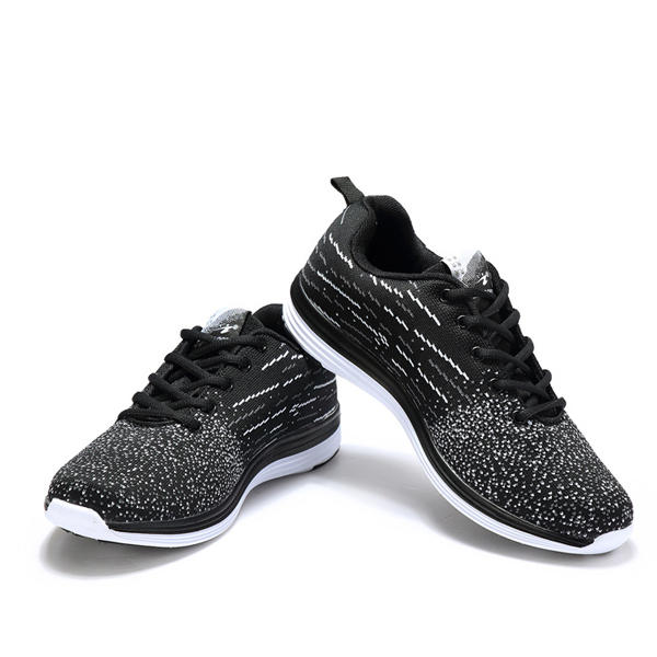 DELOCRD Big Size Unisex Running Sports Soft Lace Up Casual Non-slip Outdoor Athletic Shoes