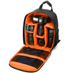 DSLR Camera Lens Storage Backpack Water-resistant Case Bag with Padded Bag