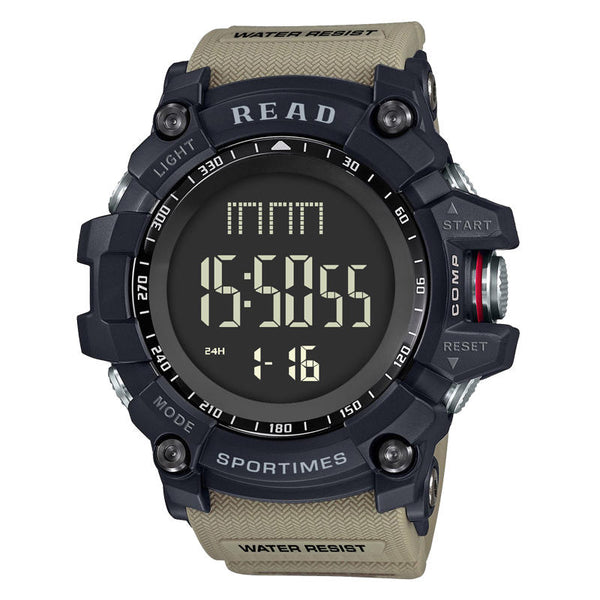 READ R90002 Digital Watch Multifunction Luminous Display Fashion Stopwatch Double Time Alarm Watch