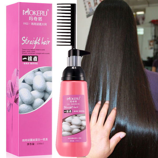150ml Easy Using Smooth Hair Straightening Nourishing One Comb Straight Hair Cream for Woman Haircare Relaxer Cream