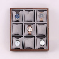 Bakeey 9/12/24 Slots Wooden Watch Box Jewelry Display Collection Storage Box