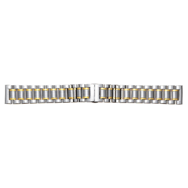 18-22mm Stainless Steel Watch Band Clasp Metal Strap Replacement With Spring Bars