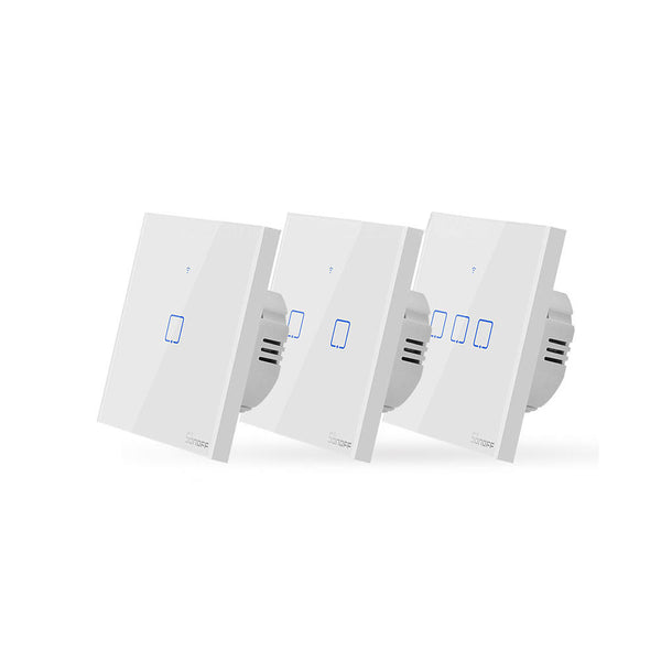 SONOFF T0 EU/US/UK AC 100-240V 1/2/3 Gang TX Series WIFI Wall Switch Smart Wall Touch Light Switch For Smart Home Work With Alexa Google Home