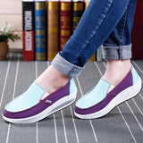 Women Sport Running Rocker Sole Shoes Casual Outdoor Slip On Flats - EY Shopping