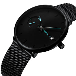 CRRJU 2258 Simple Dial Color Bright Needle Day Display Fashion Men Quartz Watch