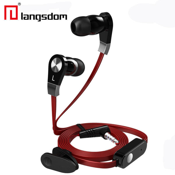 Langdom JM02 Super Bass Sound 3.5mm In-ear Earphone With Mic Remote Control for Android IOS Phones
