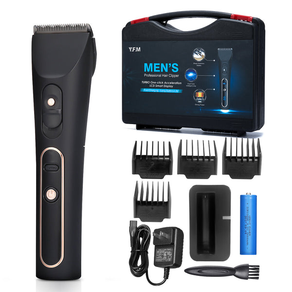 Y.F.M. Professional Electric Hair Clipper Cordless Hair Trimmer Beard Shaver Adjustable With Toolbox