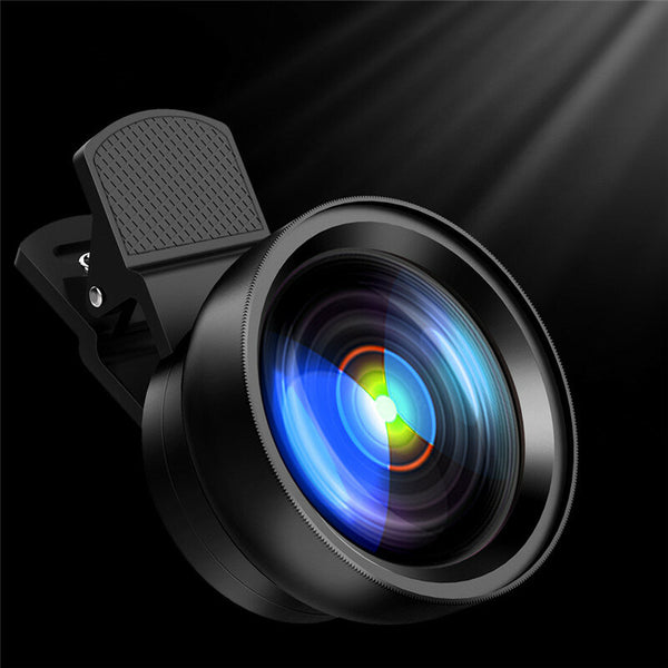 Bakeey Portable 2 in 1 Universal Clip Phone Lens HD 0.45X Wide Angle With Macro Camera Lens for Cell Phones