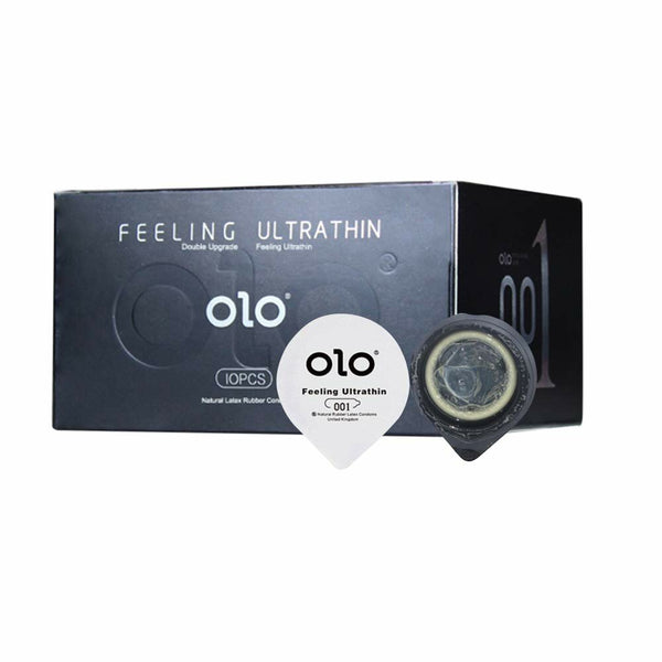 OLO 10Pcs Male Condom Natural Latex Ultra-thin Lubricated Hyaluronic Acid Condoms Toughness For Adult