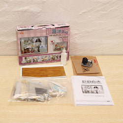 Cuteroom 1:32Dollhouse Miniature DIY Kit with Cover& Music LED Light Heart of Ocean