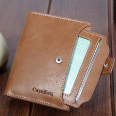 Men Women Faux Leather Retro Personalized Wallet Card Holder Coin Purse