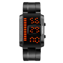 SKMEI 1179 LED Watch Fashion Alloy Case Swimming Men Sport Digital Watch