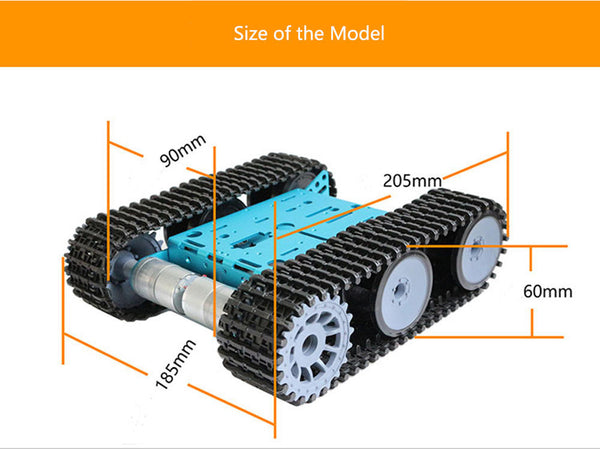 DIY Smart RC Robot Car Metal Chassis Tracked Tank Chassis With GM325-31 Gear Motor For