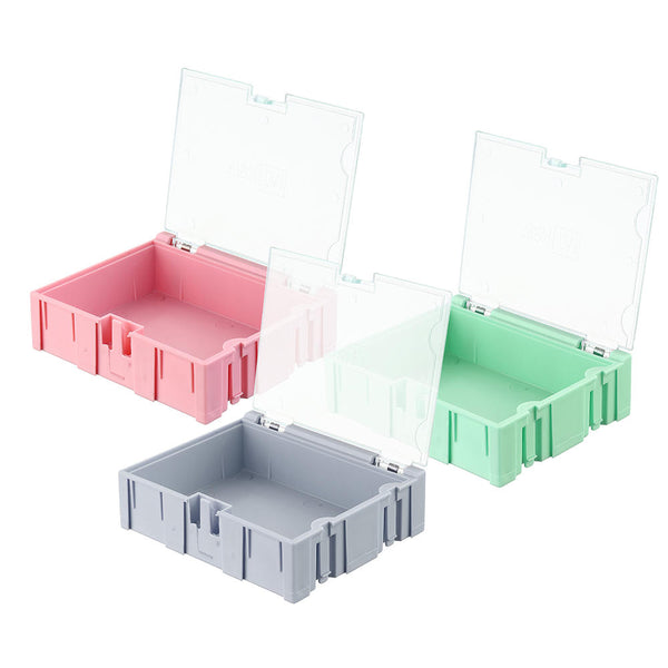 NO.3 Small Splicable Tool Box Screw Object Electronic Project Component Parts Storage Box Case SMT SMD Pops Up Patch Container