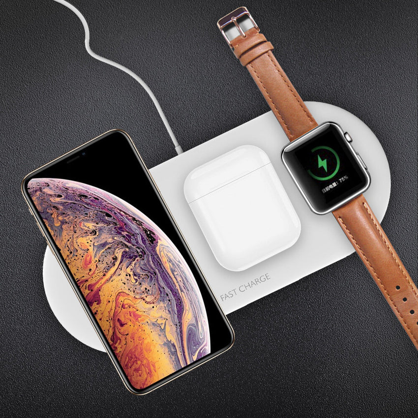 Bakeey 3 In 1 Wireless Charger Fast Wireless Charging Pad Earbuds Charger Watch Charger For Qi-enabled Smart Phones For iPhone XS 11 Pro Apple Watch Series 1 2 3 4 5 Apple AirPods Pro