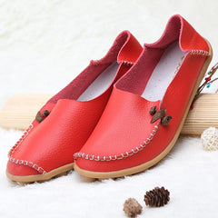 US Size 5-11 Shoes Women Flats Comfortable Casual Outdoor Breathable Slip On Flats Loafers Shoes - EY Shopping