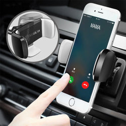 Universal Adjustable Clip 360 Degree Rotation Car Mount Air Vent Holder for iPhone Mobile Phone