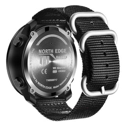 NORTH EDGE Apache2 Altimeter Barometer Compass Temperature Display 50m Waterproof Outdoor Sport Digital Watch