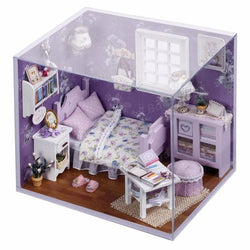 Cuteroom 1:32Dollhouse Miniature DIY Kit with Cover LED Light Sweet Sunshine