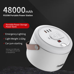 YOOBAO 153Wh Power Station PD 30W 48000mAh Multi USB Port LED Display Generator Power Bank Backup Power Supply For iPhone Outdoor Car iPhone XS 11Pro Xiaomi MI10