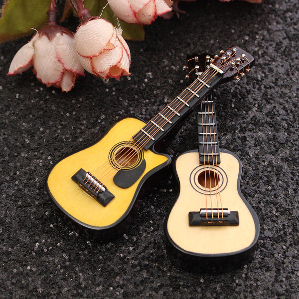 1/12 Scale Dollhouse Miniature Guitar Accessories Instrument DIY Part For Dollhouse