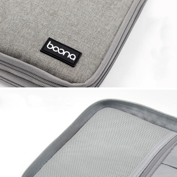 Boona 27cm*20cm Double Layer Digital Accessories Storage Bag U Disk Memory Card USB Cable Tablet Organizer Travel Bag
