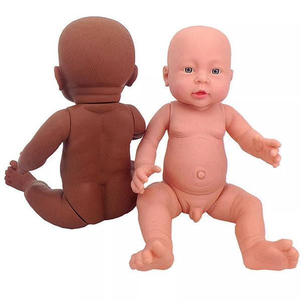 Unpainted Blank Doll Mold Full Silicone Vinyl Reborn Doll Lifelike Take Care Training Figure Baby Doll Toys