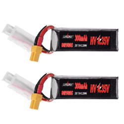 2Pcs URUAV 7.6V 300mAh 80C/160C 2S HV 4.35V Lipo Battery XT30 Plug for BETAFPV Whoop Quadcopter