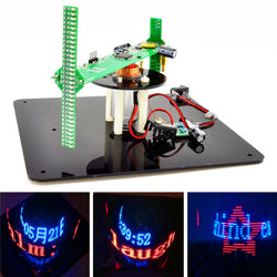 Geekcreit DIY Biaxial 3D Rotating LED Kit POV Creative Soldering Training Kit