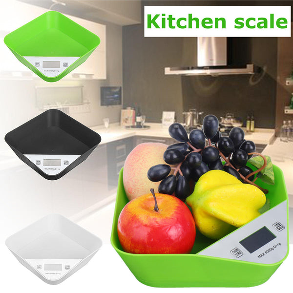 Digital Kitchen Scale Pet Scale Large LCD Display with Storage Platform Container