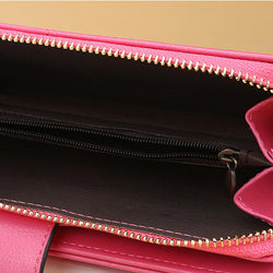 Multifunctional Long Clutch Bag Large Capacity Zipper Wallet Card Holder Phone Bag For Women