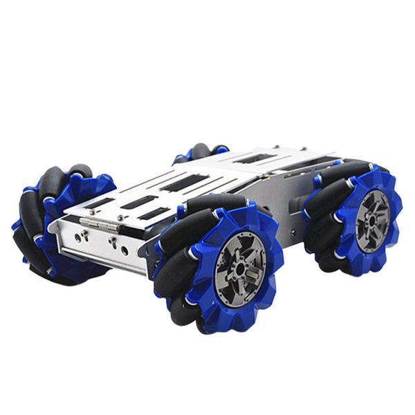 D-40 DIY Smart Aluminous RC Robot Car Chassis Base With 103mm Omni Wheels DC 12V Motor