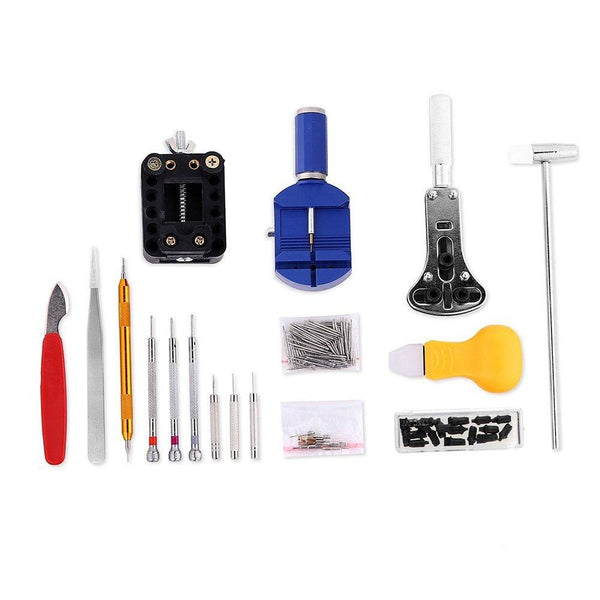 147 PCS Watch Tools Watch Repair Kit Spring Bar Back Case Opener Tool Set with Carrying Case
