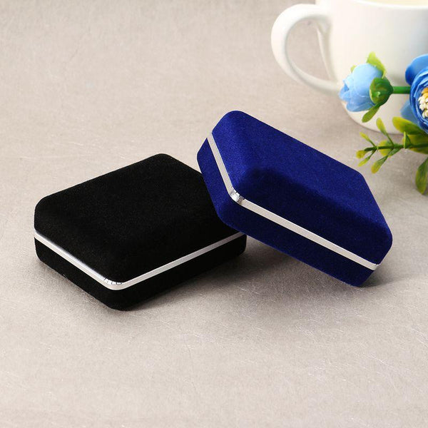 Velvet Square Earring Ring Cuff Links Storage Jewelry Packing Gift Box