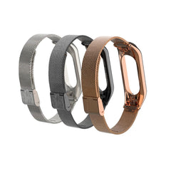 Bakeey Metal Strap Screwless Stainless Steel Replacement Strap Wristband for Xiaomi Mi Band 3