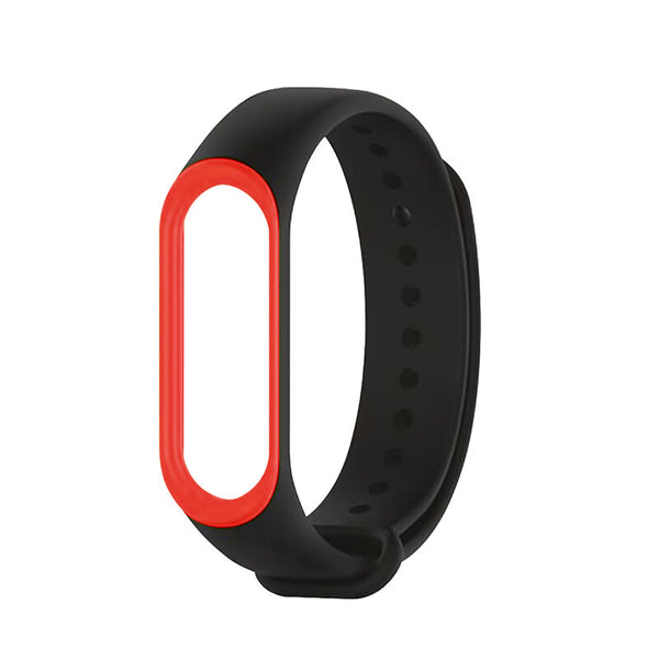 Double Color Watch Band Silicone Strap Replacement for Xiaomi Miband 3