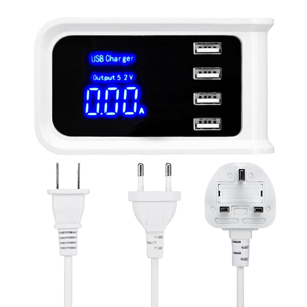 DL-CH19 4 USB Ports Intelligent Charger Charging Hub With LED Display